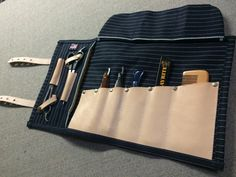 barber apron and tool roll combo by sartorandvillain on Etsy