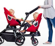 Orbit Baby sees double – new Double Helix pram for two! 360 degree rotation for both seats so seats can face sideways as well