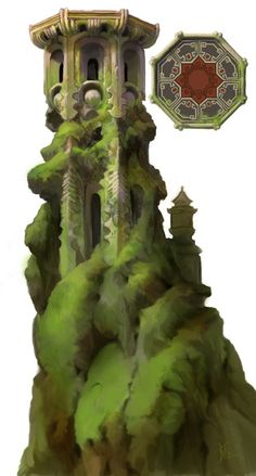 I like the look of this a lot. It's like the overgrowth and the pillar have fused together to become one really interesting shape.