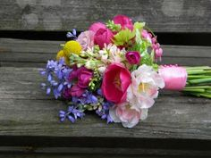 Spring Time Wedding Flowers in Hot Pink