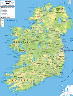 Free Printable Map Of Ireland Map Of Ireland Plan Your