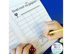 Introduce 4 new words every week, and reinforce them in centres with different games! Includes 28 sight words - for a 7 week sight word program! Great for French Immersion or Core French! Teaching French, Teaching Writing, French Teacher, Writing Practice, Spanish Teaching Resources, French Resources, French Lessons, Spanish Lessons, Word Program