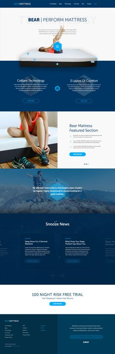Bear Mattress Technology Homepage by Christopher LaRose