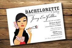 Engagement party becoming mrs templin pinterest invitation japanese sushi themed bachelorette or birthday party invitation digital or printed 1500 via stopboris Images