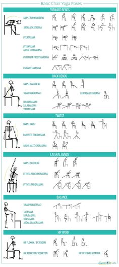 Basic chair yoga poses More