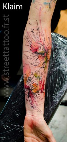 Piece réalisée sur le Mondial du tatouage 2013 par Klaim StreetTattoo.