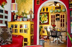 Colorful Art of Mexican House Interior Design | Bhouse