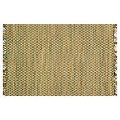 Stitched Flat Jute-Blend Rug, Moss $115.00