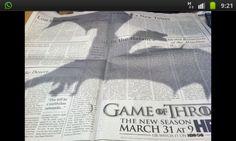 Dragón - Gráfica en prensa Juego de Tronos
