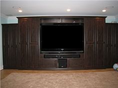 Spend quality time with family and friends in front of a custom entertainment/media center