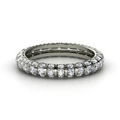 Pinstripe Eternity Band, Platinum Ring with Diamond from Gemvara