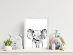 Black and White Elephant Wall Art Digital Download Printable | Etsy Safari Theme Nursery, Elephant Nursery Decor, Elephant Wall Art, Elephant Print, Nursery Wall Decor, Baby Elephant, White Elephant, Boy Wall Art, Boys Room Decor