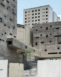 Plaza das Artes, Sao Paulo, Brazil / Brazil Architecture / Photographed by . Art Et Architecture, Concrete Architecture, Amazing Architecture, Contemporary Architecture, Architecture Details, Built Environment, Brutalist, Modern Buildings, Facades