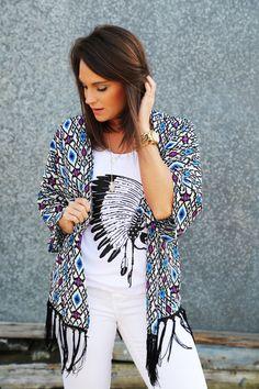 Spring Ikat Kimono - The Rage