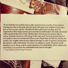 "Tom Robbins ""precisely the unthinkable that must be thought"""