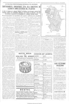"""Pagina 15 del periodico colonial """"Heraldo de Madrid"""". el titulo del reportaje era: La colonia Penitenciaria española de Annobón. Colonial, Madrid, Personalized Items, Journaling, Islands, Men, Life"""