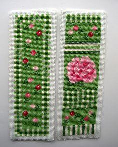 Twilleys Rose Medley cross stitch bookmarks