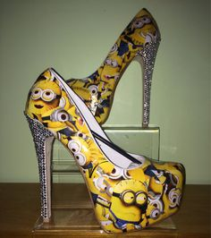 Minion heels made to order by FreckledBettysFancys on Etsy