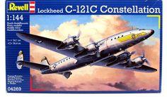 C-121C Constellation Military Airplane Model Kit Revell #04269 1/144 N – Shore Line Hobby