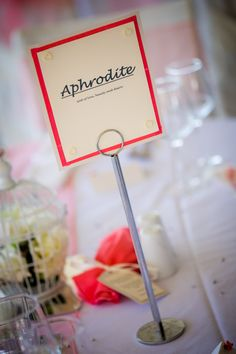 Keeping the Greek theme with table names