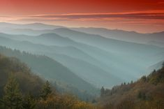 Sunrise in Great Smokey Mountains National Park