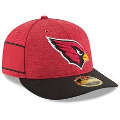 a055d759e54 Men s Arizona Cardinals New Era Cardinal Black 2018 NFL Sideline Home  Official Low Profile 59FIFTY Fitted Hat