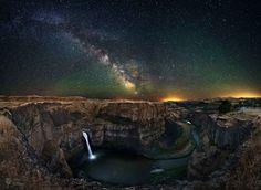 Northern Lights, Washington State, Night Skies, Waterfall, Sky, Nature, Hawaiian Sunset, Places, Travel