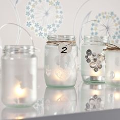 Frosted Candle Jars 1480 600 20 Inspiring #DIY Projects