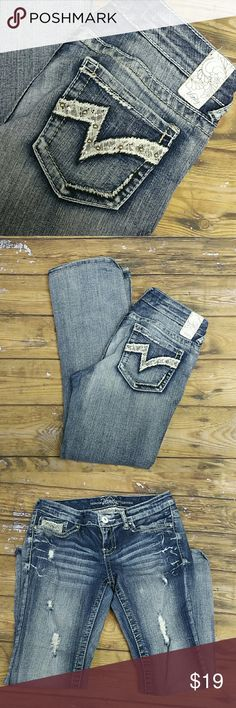Vanity Jeans Cute distressing and accents. Vanity Jeans Boot Cut