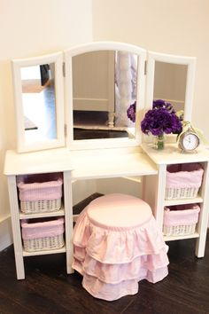 pottery barn kids- dreamed for this kind of vanity set! adorable for a girls room