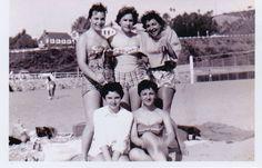 Santa Monica Beach Bathing Beauties, Santa Monica, Beaches, Cool Photos, 1950s, People, Travel, Beauty, Viajes