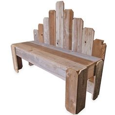 Old Fence pickets into a bench
