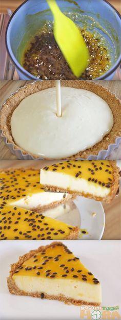 Torta de Maracujá #TortadeMaracujá #Receitatodahora