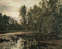 В. Серов. Заросший пруд. Домотканово. 1888