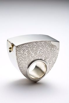 Ring | Marie-Eve Martin.  Sterling silver and 18k yellow gold.