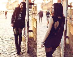 Black Milk Clothing Leggings, Too Much Shirt, Romwe Jacket