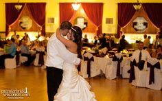 Bride And Groom Dancing At The Chandelier Ballroom Hartford Wi Wedding Reception Venue Mia