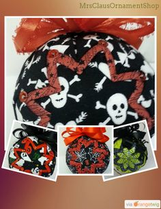 40 days until Halloween!  Handmade quilted ornaments...perfect for your holiday decorating. http://etsy.me/1yxOFVI https://orangetwig.com/shops/AAAuaht/campaigns/PRS_AAAuaht_2015009?cb=2015009&sn=MrsClausOrnamentShop&ch=pin&crid=AABWAHP