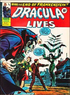 Marvel UK. Dracula Lives #8. I dislike blurry pins, but this cover is too cool to pass over. -MT