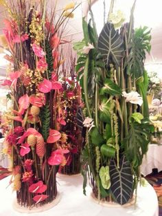 Vendor table for Green Point Nurseries, Hilo, HI by Hitomi Gilliam AIFD at 2014 AIFD Symposium