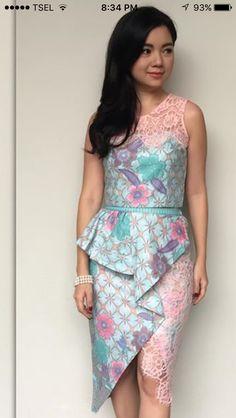 goed gekozen de kant en stof geeft het patroon een mooie vrouwelijk en frisse lijn