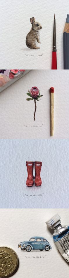Lorraine Loots creating postcards for ants, article on NEW KEWL / UUS TUUS