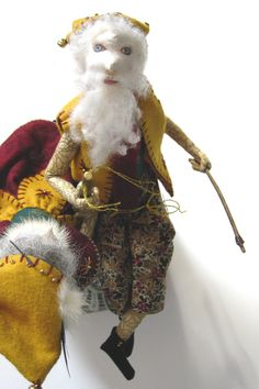 santas Elves  OOAK ART Doll Ornament and original by MountainDolls, $200.00