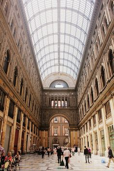 Galleria Umberto I, Napoli Oh The Places You'll Go, Great Places, Beautiful World, Beautiful Places, Travel Around The World, Around The Worlds, Amalfi Coast, Scenery, Vacation