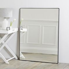 Chiltern Thin Metal Rectangular Mirror | Mirrors | Home Accessories | Home | The White Company UK