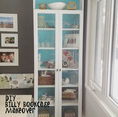 Check out how we did our DIY Billy bookcase makeover. If you've got Ikea furniture you'd like to makeover, learn from our mistakes! Step-by-step instructions with photos. Bookcase Makeover, Billy Bookcase Hack, 4 Shelf Bookcase, Barrister Bookcase, Bookcase Styling, Bookcases, Step Shelves, Large Shelves, Shelf Design