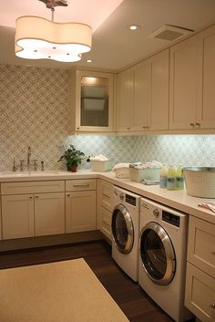 If you're building your own home...don't take all of your square footage for your laundry room...but seriously, make it big enough to use, store, enjoy being in!