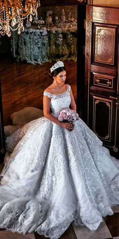 24 Various Ball Gown Wedding Dresses For Amazing Look  See more:   #wedding #dresses #ballgown