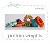make your own pattern weights with nuts bolts and fabric scraps! So much better than the ugly dritz ones!