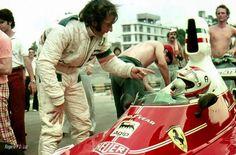 Emerson Fittipaldi & Clay Regazzoni, Ferrari, 1976, Interlagos…